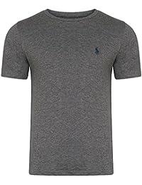 Ralph Lauren - T-shirt - Uni - Col Rond - Homme -  gris - L