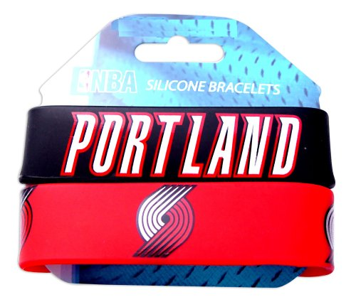 aminco NBA Boston Celtics Silikon Gummi Armband, damen, mehrfarbig (Fan Portland Trailblazers)
