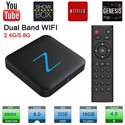 Zenopllige z11 pro android tv box 2.4g/5g wifi 2g/16g 4k hd android 6.0 amlogic905x quad core tv box smart tv box