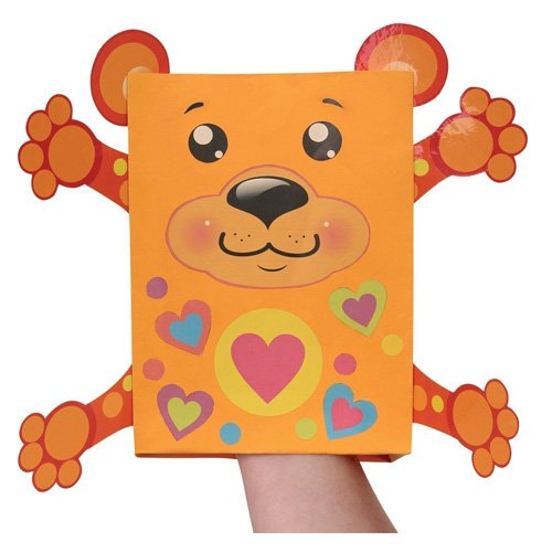 Paper bag puppets / Tiermarionetten aus Papiertüten (Paper Bag Puppet)