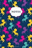 Notes: Colorful Unicorns Pattern Quad Ruled 5 x 5 (.20'') Notebook for Math & Science Students and Teachers