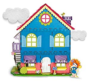 Kit maison de poupée en 3 D à assembler 401 pièces