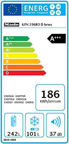 Miele KFN 29683 obsw Kühl-Gefrier-Kombination / Energieeffizienz A+++ / 201 cm Höhe / 186 kWh / 101 Liter Gefrierteil…