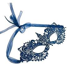 Antifaz máscara de carnaval veneciana cordón azul marino De las mujeres - Diosa
