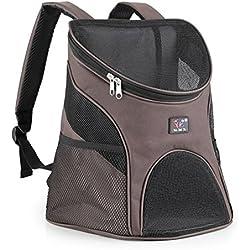 Portador de mascotas - SODIAL(R) portador del animal domestico de superficies suaves de perro gato y otras mascotas/ portador de gato para viaje / casa de perro con ventana de malla,cafe S