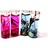 Shot Glass Gel Colors Candle (Pink&Blue, Pack Of 4)