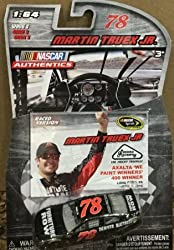 June 2015 Pocono Raced Win Edition Martin Truex Furniture Row Denver Mattress 1/64 Scale Diecast NASCAR Authentics With Collectors Card