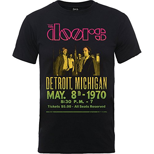 Rockoff Trade The Doors Gradient Show Poser, Camiseta para Hombre, Negro Black, Small