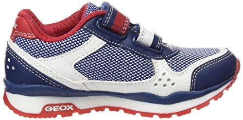 Geox J Pavel B, Baskets Basses Mixte Enfant Multicolore (Multicolor (Blue/White)