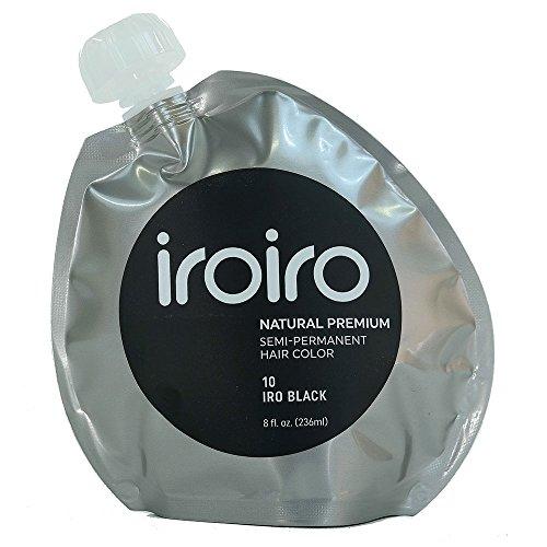 Iroiro Premium Natural Semi-permanenten Haar Color10Iro-Schwarz (8oz)