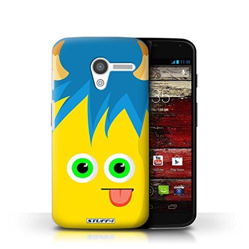 Kobalt® Imprimé Etui / Coque pour Motorola MOTO X / Rouge conception / Série Monstres Jaune