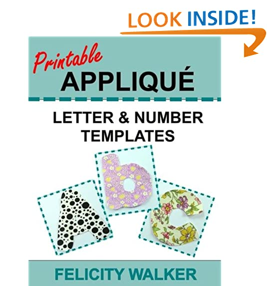 Applique patterns amazon printable applique letter number templates alphabet patterns with uppercase and lowercase letters numbers 0 9 and symbols for sewing quilting pronofoot35fo Image collections