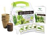BIO Kräuter Box CLASSIC - Anzuchtset - 5 Sorten BIO Samen - zum Selberzüchten oder zum Verschenken - eine originelle Geschenkidee für praktisch jeden Anlass