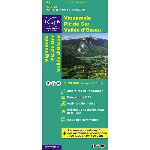 TOP75018 VIGNEMALE/PIC DE GER/VALLE D'OSSAU 1/75.000