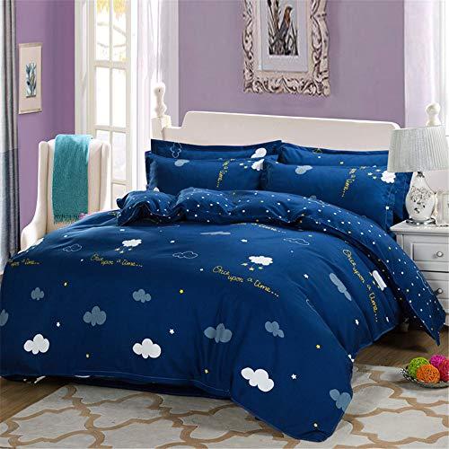 Kirsche Holz Einzelbetten (YUNSW Heimtextilien Blumen Bettbezug Bettdecken Decke Einzelne Bettbezüge Heimtextilien B 180x220cm)