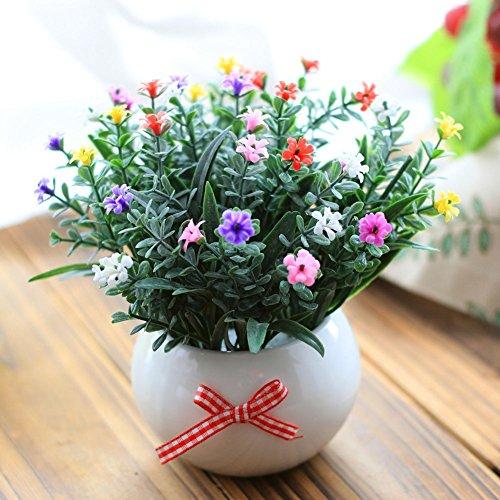 2018 Unechte Blumen,Künstliche Deko Blumen Gefälschte Blumen Seidenrosen Plastik Dahlie Braut Hochzeitsblumenstrauß für Haus Garten Party (Bunt,15cm) , I