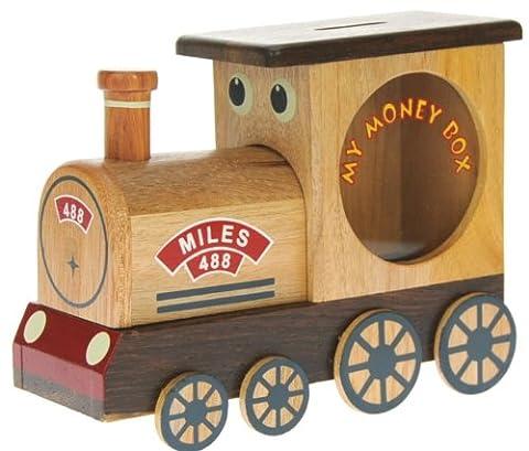 Train à vapeur : Fabriqué à la main tirelire en bois avec serrure secret! Cadeau fantastique pour Noël ou anniversaire. Haute qualité traditionnelle cadeau de Noël pour les enfants ou les adultes. (Taille 16.5 x 12.5 x 6.5