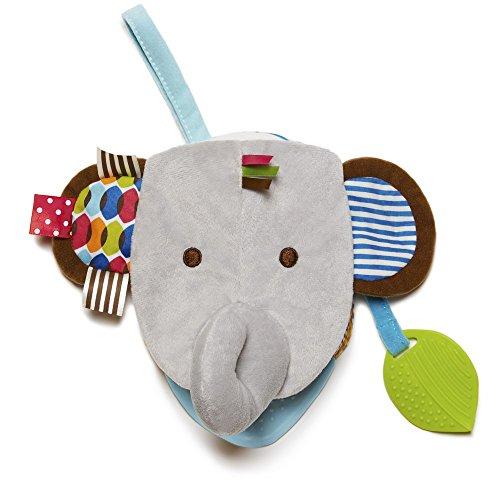 Skip Hop 306252 Bandana Buddies Book Elephant - 2 in 1 Stoffbuch und Handpuppe, Elefant