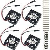 MakerHawk 4pcs Raspberry Pi DC Ventilateur de Refroidissement sans Balai séparant l'interface de connecteur 3.3V 5V pour Raspberry Pi 2/3 / 3B + / Zéro/Zéro W ou Un Autre Projet de Robot