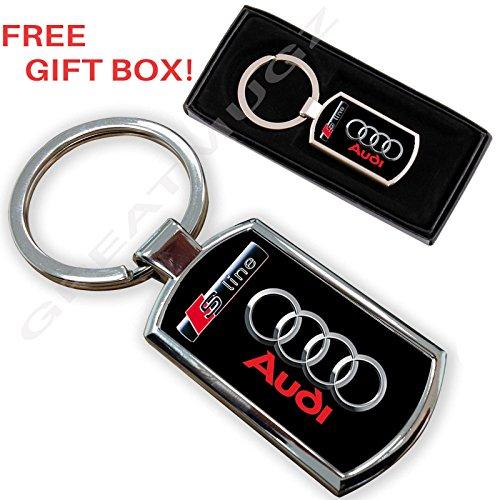 Cargifts Audi S-Line Autoschlüsselanhänger, Schlüsselanhänger, Chrommetall