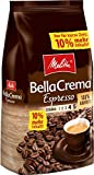 Melitta Ganze Kaffeebohnen, 100 % Arabica, reiches Aroma, intensiv-würziger Geschmack, kräftiger Röstgrad, Stärke 4 bis 5, BellaCrema Espresso, 1100 g