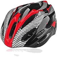 LY-YY Casco de Ciclismo Hombre Casco de Bicicleta Ventilación 21 Adultos Específicamente para Hombres y Mujeres Protección de Seguridad Rojo Negro