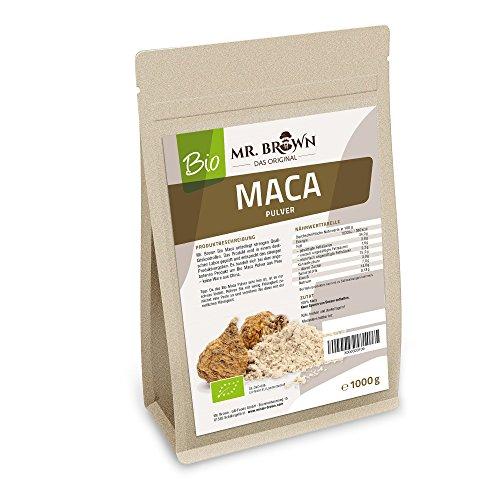 Mister Brown BIO Maca Pulver aus Peru 1 kg | Premium Qualität 1000g