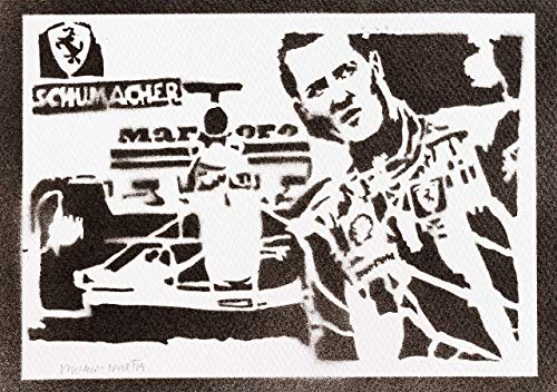F1 Michael Schumacher Poster Plakat Handmade Graffiti Street Art - Artwork (Foto-und Autogramm-buch)