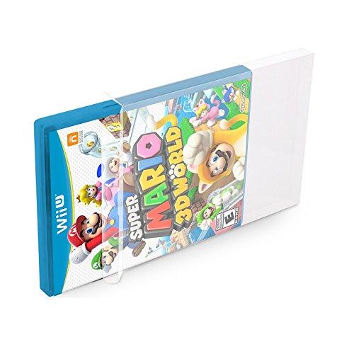 Smash 360 Xbox Super Spiele Bros (5 Klarsicht Schutzhüllen WiiU [5 x 0,3MM WiiU] Spiele Originalverpackungen Passgenau Glasklar)