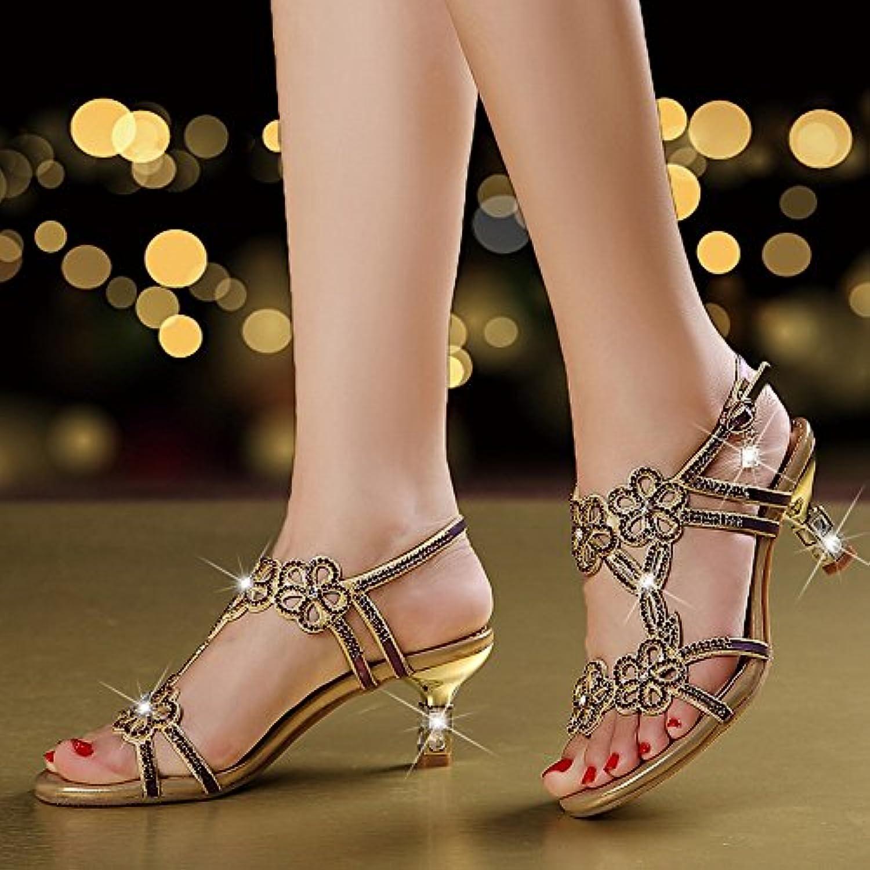 f337fe39495d DHG Summer Summer Summer High Heels Women  S Rhinestone Sandals ...
