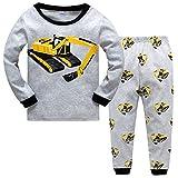 Qzrnly Jungen Schlafanzug Langarm Herbst Winter Kinder Nachtwäsche Pyjama Sets 98 104 110 116 122 128 134