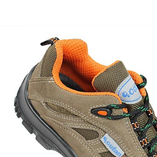 CoFan Zapato S1P SRC Sicherheitsschuhe Arbeitsschuhe Berufsschuhe B-Ware Braun
