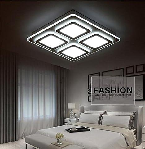Einfache moderne Deckenleuchten Wohnzimmerleuchten Rechteck Atmosphäre Schlafzimmer Lichter Kreative Ultra dünne Fernbedienung Dimmen Halle Lampen , (Rechteck Lampenschirme)