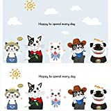 Suuyar Diy Wandaufkleber Abziehbilder Cartoon Welpen Kätzchen Wohnkultur Tapete Schlafzimmer Wanddekoration Dekoration Für Kinderzimmer