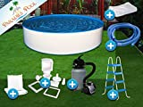 Pool Set Easy 3,50x0,90m rund Stahlwandbecken Komplettset Aufstellbecken