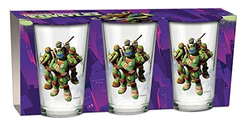 Turtles Glas Set 3 Saftgläser TMNT Becher Teenage Mutant Ninja Turtles Gläser 3er-Pack