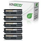 Kineco 5 Toner kompatibel für Brother TN-325 für Brother DCP-9055CDN, DCP-9270, HL-4140, HL-4150, HL-4570, MFC-9460CDW, MFC-9970, MFC-9560 - Schwarz je 4.000 Seiten, Color je 3.500 Seiten