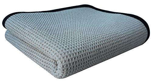 Professional Grade gryeer extragroßen Mikrofaser-Handtuch, Waffelmuster, Auto Reinigungstuch Details, 400gsm, 70x 100cm, grau