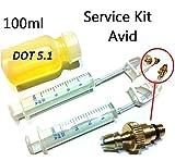 F26 Scheibenbremsen Service Kit + 100ml DOT 5.1 Öl für Avid Scheibenbremsen bleeding set