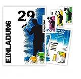 Einladungen für Geburtstage Männer Jungen Erwachsene lustig jedes Alter möglich - 90 Karten, DIN A5 (21 x 14,8 cm)