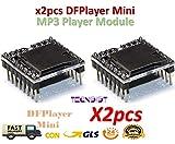 2pcs DFPlayer Mini MP3 Player Module MP3 Voice Module TF Card and USB Disk |2pcs...