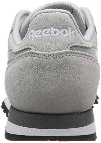 Reebok Classic Leather Suede, Chaussures de Course Homme Beige - Beige (Steel/Tin Grey/Alloy/White/Black)