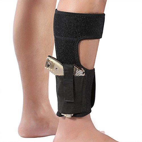 Preisvergleich Produktbild Hanyia Ankle Holster Adjustable Neoprene Elastic Wrap Concealed Ankle Carry Gun Holster with Magazine Pocket for Small Frame Pistol Handgun Fits Men Women