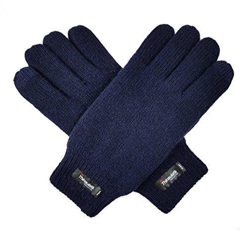 bruceriver-uomo-maglia-di-lana-guanti-puri-con-thinsulate-rivestimento-ed-elastico-rib-cuff-taglia-s
