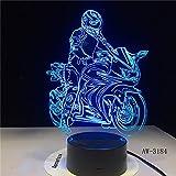 3D3 Hauptbeleuchtung Dekoration 3D Lampe LED Motorrad Modell Tischlampe Atmosphäre Motorrad Mond...