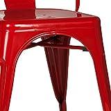hjh OFFICE 645021 Bistrostuhl VANTAGGIO COMFORT Metall Rot Stuhl im Industry-Design, stapelbar - 7