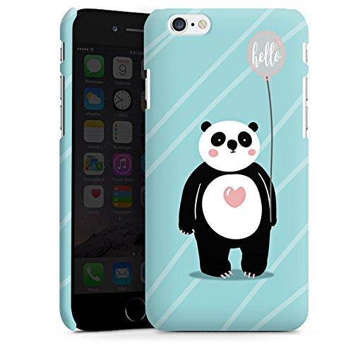 Apple iPhone X Silikon Hülle Case Schutzhülle Panda Comic Zeichentrick Premium Case matt
