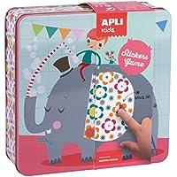 APLI Kids - Caja metálica con juego de gomets Elefante