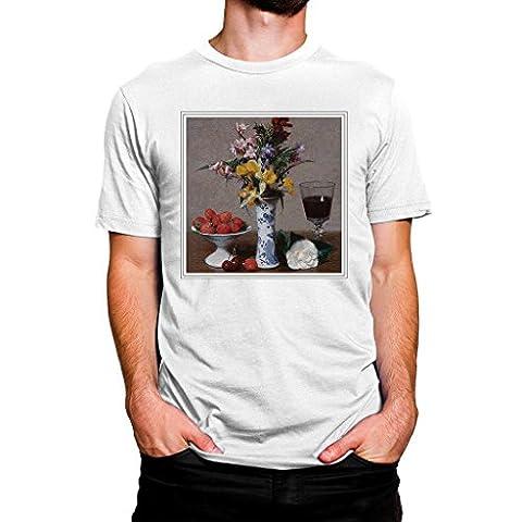 White T Shirt (L) Henri Fantin-Latour Still Life Fruit with