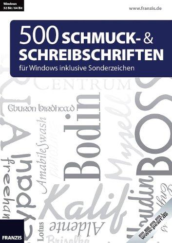 Franzis 500 Schmuck- und Schreibschriften